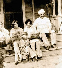 Brandeis Denies Sacco's Appeal, August 22, 1927, from left:  Guiseppe Natale, my mother, Esther Nita Natale, her sister Nunziata Natale, the Natale restaurant cook. On step below, Violet Natale.