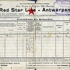 Travel ticket, 8 April 1911, collection Red Star Line Museum, Antwerp