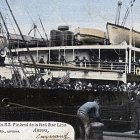 Awaiting the departure of SS Finland, circa 1900, postcard, collection Friends of the Red Star Line, Antwerp